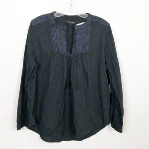 J.Crew | long sleeve embroidered peasant blouse 12